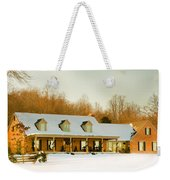First Winter Snow Weekender Tote Bag