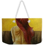 First Women In Bed Weekender Tote Bag