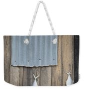 Fish Drying Outside Fisherman House Weekender Tote Bag
