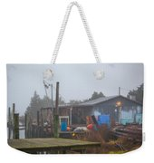 Fish House In Fog Weekender Tote Bag