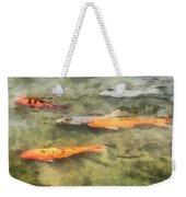 Fish - School Of Koi Weekender Tote Bag by Susan Savad