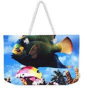 Fish Sculpture Weekender Tote Bag