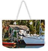 Fish Shack And Invictus Painted Weekender Tote Bag
