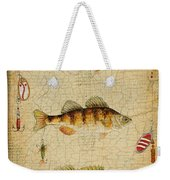Fish Trio-c-basket Weave Weekender Tote Bag