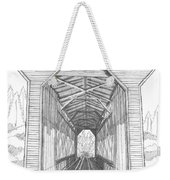 Fisher Railroad Covered Bridge Weekender Tote Bag