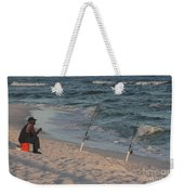 Fisherman At The Beach Weekender Tote Bag