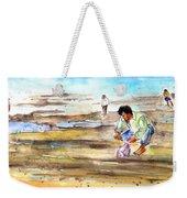 Fisherman On Las Canteras Beach Weekender Tote Bag