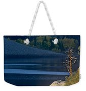 Fisherman On Lundy Lake Eastern Sierras California Weekender Tote Bag