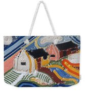 Fishermans Cottages String Collage Weekender Tote Bag