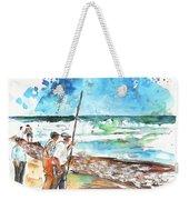 Fishermen In Praia De Mira 02 Weekender Tote Bag