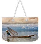 Fishermen In The Inle Lake. Myanmar Weekender Tote Bag