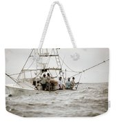 Fishermen Reel In Line From The Back Weekender Tote Bag