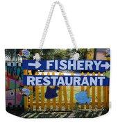 Fishery Weekender Tote Bag