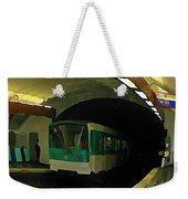 Fisheye View Of Paris Subway Train Weekender Tote Bag