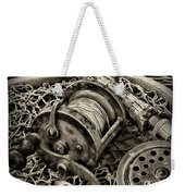 Fishing - All That Gear In Black And White Weekender Tote Bag
