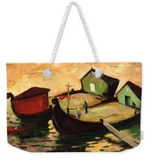 Fishing Barges On The River Sugovica Weekender Tote Bag
