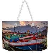 Fishing Boat Weekender Tote Bag by Adrian Evans