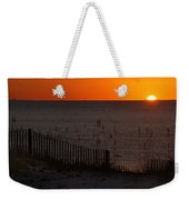 Fishing Boat And The Sunrise Weekender Tote Bag
