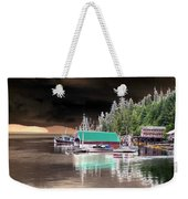 Fishing Boat Dock - Ketchican - Alaska - Photopower 02 Weekender Tote Bag