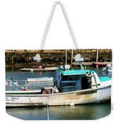 Fishing Boat In Rockport Weekender Tote Bag