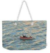 Fishing Boat Jean Weekender Tote Bag