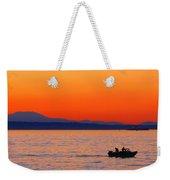 Fishermen At Sunset Puget Sound Washington Weekender Tote Bag
