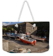 Fishing Boats At Mullion Cove Weekender Tote Bag