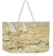 Fishing Boats At Saintes Maries De La Mer Weekender Tote Bag by Vincent van Gogh