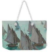 Fishing Boats Calm Sea Weekender Tote Bag