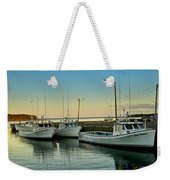 Fishing Boats In A Harbor Towards Evening On Prince Edward Island Weekender Tote Bag