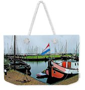 Fishing Boats In Enkhuizen-netherlands Weekender Tote Bag
