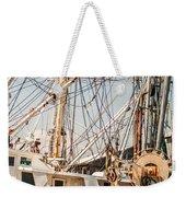Fishing Boats In Harbour Weekender Tote Bag