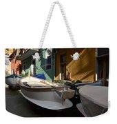 Fishing Boats In Manarola - Cinque Terre Weekender Tote Bag
