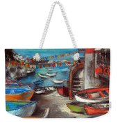 Fishing Boats In Riomaggiore Weekender Tote Bag