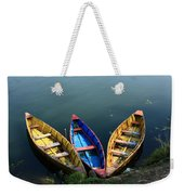 Fishing Boats - Nepal Weekender Tote Bag