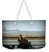 Fishing Buddies Weekender Tote Bag by Kathy Barney