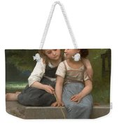 Fishing For Frogs Weekender Tote Bag by William Bouguereau