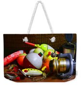 Fishing - Freshwater Tackle Weekender Tote Bag by Paul Ward