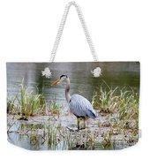 Fishing Heron  Weekender Tote Bag