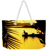 Fishing In Gold Weekender Tote Bag by Karen Wiles