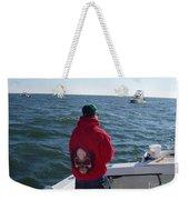 Fishing In Rough Seas Weekender Tote Bag