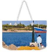 Fishing In Spetses Town Weekender Tote Bag
