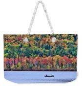 Fishing In The Fall Colors On Lake Chocorua Weekender Tote Bag