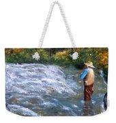 Fishing In The Fall Weekender Tote Bag