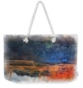 Fishing In The Fog Photo Art Weekender Tote Bag