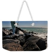 Fishing Off The Jetty Weekender Tote Bag