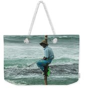 Fishing On A Pole Weekender Tote Bag