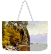 Fishing On Lac Leman Weekender Tote Bag