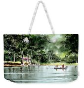 Fishing On Lazy Days - Aucilla River Florida Weekender Tote Bag