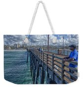 Fishing On Oceanside Pier Weekender Tote Bag